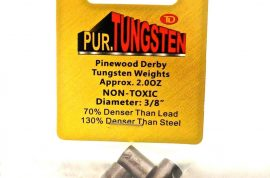 Pinewood Derby Car Tungsten Weights 2.25 oz Cylinders